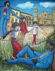 Jinetero en la habana. Analvis Somoza