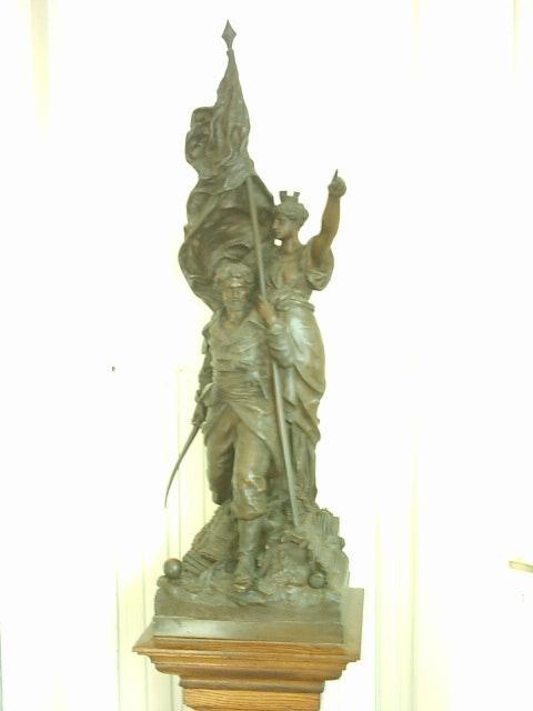 Escultura en Bronce «La Liberación de La República». Gustave Doré (1832 1883) Carlosrestaura