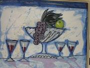 Stilleben mit Obst Tassen und. Fuensanta Garcia Sanchez