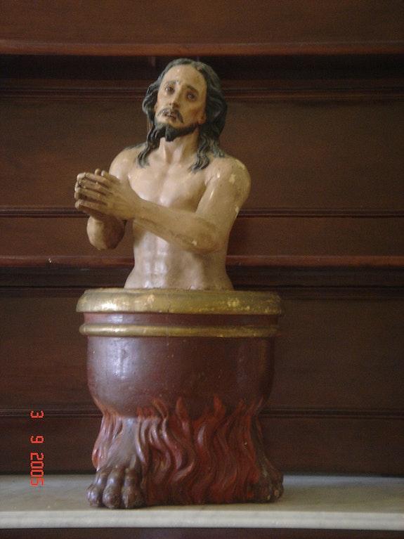 Skulptur des Hl. Johannes des Täufers. Anónimo Juan