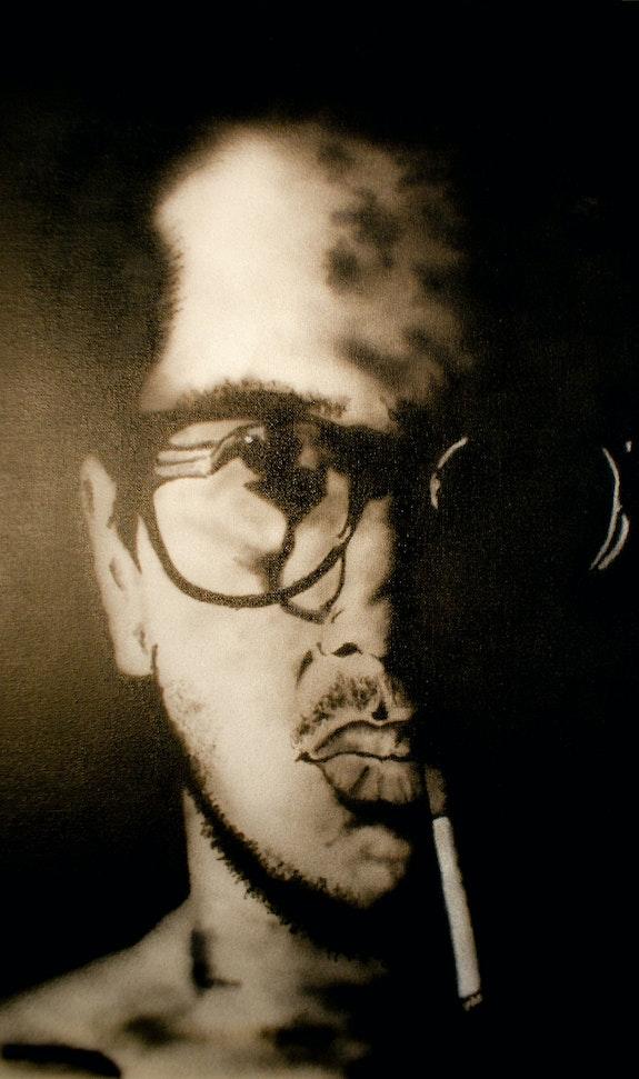 Hombre fumando. Jbish Art Jbdesigns