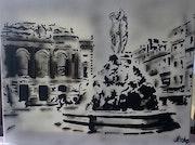 Place de la Comedie Montpellier.