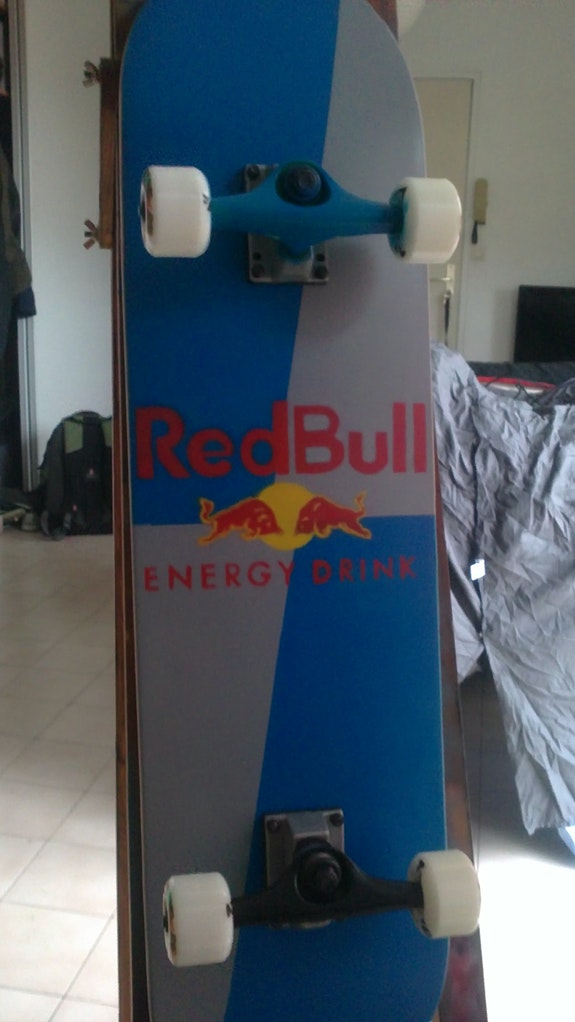 Red Bull Skateboard. Jbish Art Jbdesigns