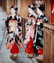 Tres geishas. Houmeau