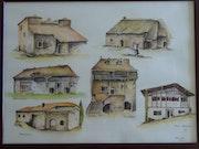 Französisch Häuser. Serge Hider