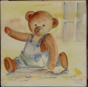 Watercolor Teddy Glissant.