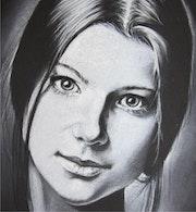 Portrait au pastel.