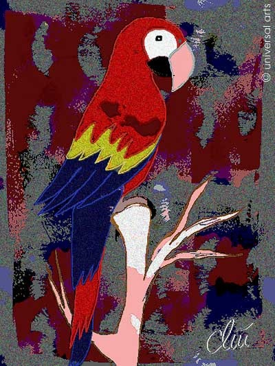Ara Macao - limited original graphic - Jacqueline_Ditt. Jacqueline Ditt Universal Arts Galerie Studio Gmbh