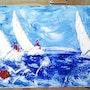 Cuando la competición en el mar ágata. Nathalie Cocoal
