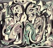 Palabrería - pintura original - Jacqueline_Ditt.