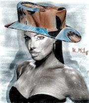 Angelina Jolie, la bomba en el sombrero de 3d.