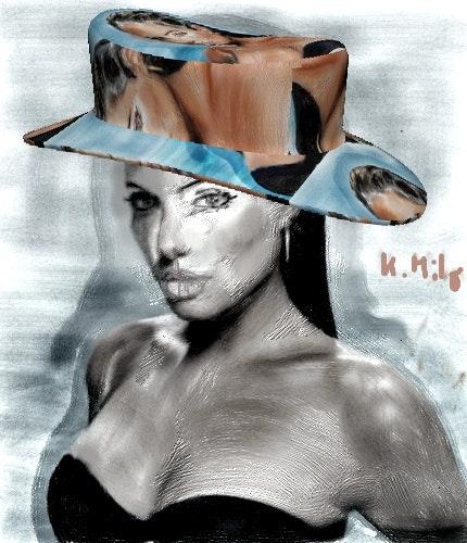 Angelina Jolie, la bomba en el sombrero de 3d. Klara Milo Klara Milo