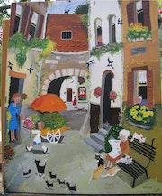 La rue du Printemps, d'après carte postale.