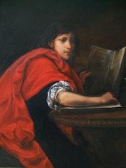 Saint Jean l'Evangéliste d'après Francesco Furini. La Souris Verte