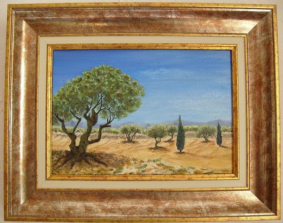 Blue sky and olives! Do you hear the crickets?. M. V. Marie V.