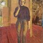 Peintre dans son atelier. Lucien Willems