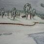 Lac de Lambres en hiver. Yann Lefebvre