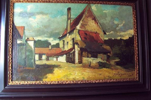 Paysage avec des maisons.  Bert Veenema