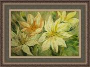 Impressionistischer Gemälde, dekorative Blüten. Dorina Casapu