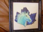 Le cheval bleu.