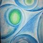Sidereal Universum (Ölkreide und Acryl. Katlein