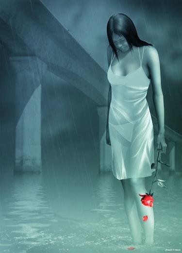 Sous la pluie…. Christelle D-Aitsiali