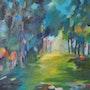 Sous-Bois en Senlis, 2011, óleo sobre lienzo. Sophie Demolins