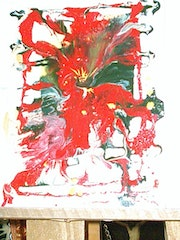 The abstract painting orchid. Elcano