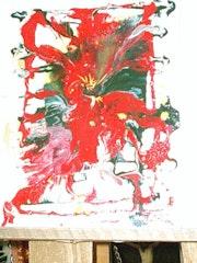 La orquídea cuadro abstracto. Elcano