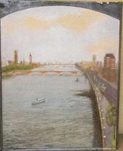 London. Blick auf die Themse 1. Roger Hallett