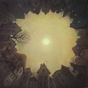 » Ville fleur » huile sur toile 80 X 80. Franck-Bernard Gaulier