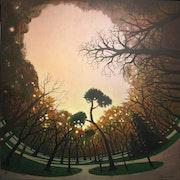 » Bois de Vincenne » 80x80 huile sur toile. Franck-Bernard Gaulier