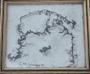 Ölteppich auf dem Großen Jorasses. Georges-Michel Dumond De Lalande