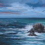 Sea and seagulls. Joelle Sieurin