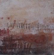 Symboles, les terres sur toile. Edith Pintar