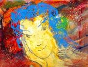 Cosmic deity with blue hair #5.. Andrey Bogoslowsky