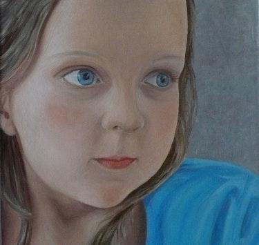 Retrato de mi nieta Elfie. Josi