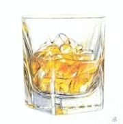 Ein Getränk Whisky.