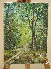 Chemin forestier, sous-bois.