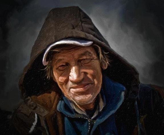Portrait d'un homme heureux.  Christian Grévellec