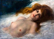 Femme nue allongée. Walter Kiwior