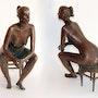 Oxana, female nude, bronze. Axel Zwiener