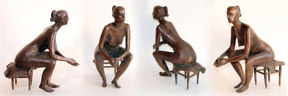 Oxana, femme nue, en bronze. A. S. Pachomow Axel Zwiener