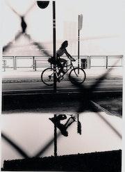 Promenade à vélo sous Manhattan Bridge septembre 2001. Céline Salaun
