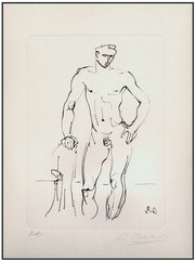 "Arno Breker - ""Young Athlete"" - Original Etching - Signed EA."