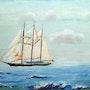 "Tall Ship the English ""Sir Winston Churchill"". Michel Fleury"