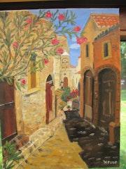 Ruelle de Monemvasia (Italie).