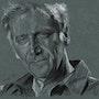Yves Duteil retrato de carbón. Philippe Flohic