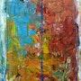 'Civilisation4'Acrylique sur toile 81cmX60cm 2011 (signé au dos).