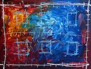 'Civilisation2'Acrylique sur toile 116cm X 89cm 2011 (signé au dos).